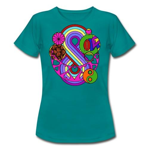 Coloured Love Mandala - Women's T-Shirt