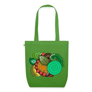 Coloured Leaf Mandala - EarthPositive Tote Bag