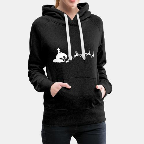 Sliding Santa Claus Frauen Kapuzenpullover - Frauen Premium Hoodie