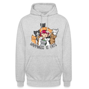 Happiness is Cats - Unisex Hoodie - Unisex Hoodie