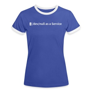 /dev/null as a Service - Frauen Kontrast-T-Shirt - Frauen Kontrast-T-Shirt