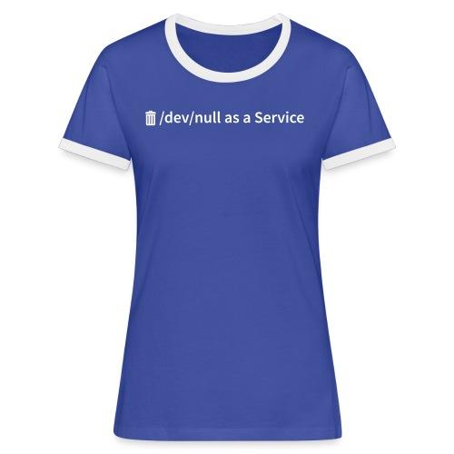 /dev/null as a Service - Frauen Kontrast-T-Shirt - Frauen Kontrast-T-Shirt