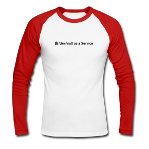 /dev/null as a Service - Männer Baseballshirt langarm - Männer Baseballshirt langarm