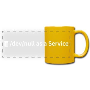 /dev/null as a Service - Panoramatasse farbig - Panoramatasse farbig