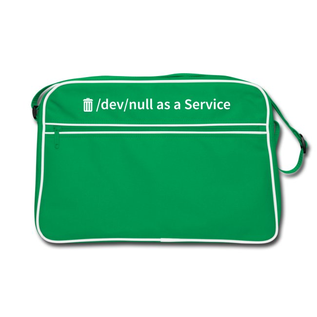 /dev/null as a Service - Retro Tasche