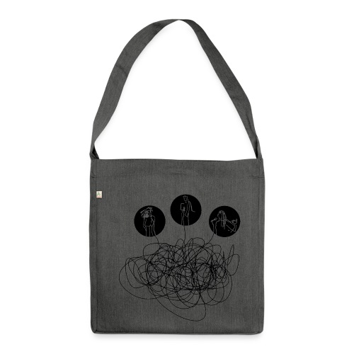 voices - Schultertasche aus Recycling-Material