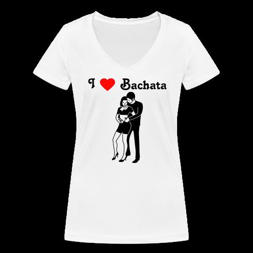 Ich liebe Bachata, T-Shirt - Frauen Bio-T-Shirt mit V-Ausschnitt von Stanley & Stella