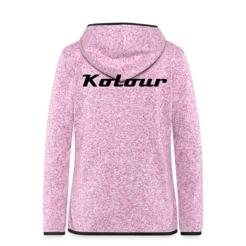 Kolour - Fleece Jacke - Frauen Kapuzen-Fleecejacke