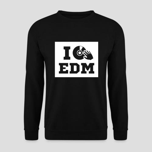 I love EDM, Sweatshirt, men - Männer Pullover