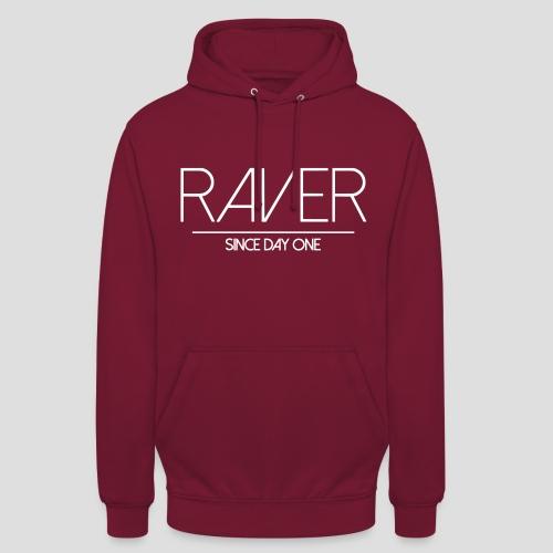 Raver since day one, Hoodie, men - Unisex Hoodie