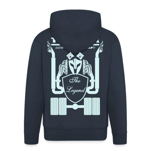 Trucker DAF Schrift Rücken Brust Ärmeldruck - Männer Premium Kapuzenjacke