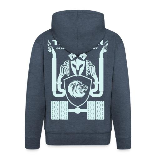 Trucker MAN Schrift Rücken Brust Ärmeldruck - Männer Premium Kapuzenjacke