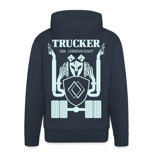 Trucker Renault Schrift Rücken Brust Ärmeldruck - Männer Premium Kapuzenjacke