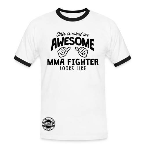 Awesome MMA Fighter - Men's Ringer Shirt