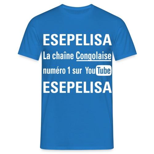 Esepelisa T-shirt Homme imprimé en blanc - T-shirt Homme