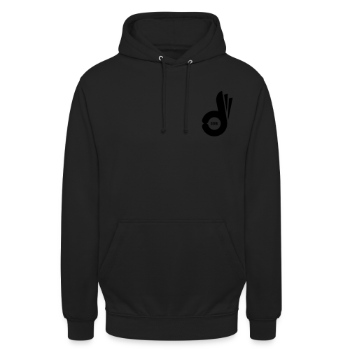 Hoodie Black Logo - Unisex Hoodie