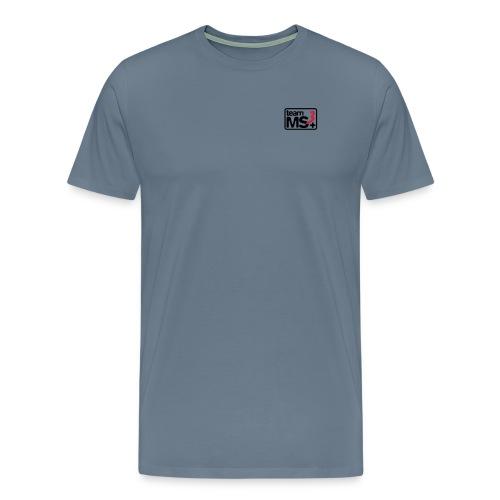 2016 - Rundhals - Farbe: Blaugrau - Initialen am rechten Ärmel - Männer Premium T-Shirt