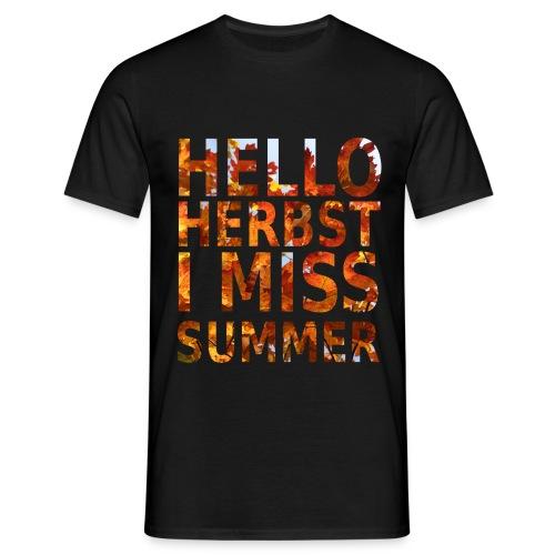 Hello Herbst - Männer T-Shirt
