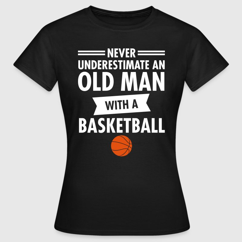 Old man basketball t shirt spreadshirt for Old school basketball t shirts