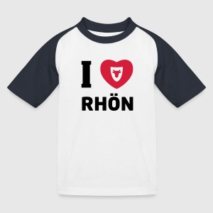 Kinder Basballshirt – I love Rhön - Kinder Baseball T-Shirt