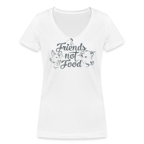 ÖKO Ladies-Shirt - Frauen Bio-T-Shirt mit V-Ausschnitt von Stanley & Stella