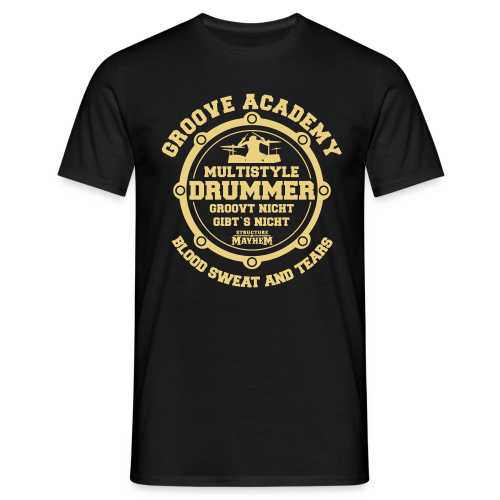 Groove Academy - Männer T-Shirt - Schwarz - Männer T-Shirt