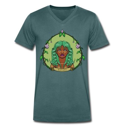 nature-gray-men - Camiseta ecológica hombre con cuello de pico de Stanley & Stella