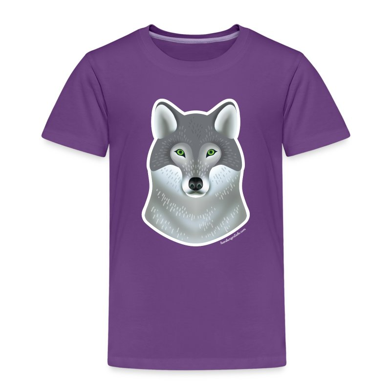 """Wild Wolf"" Kinder T-Shirt - Kinder Premium T-Shirt"