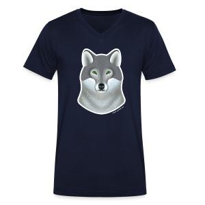 """""""Wild Wolf"""" Männer V-Shirt - Männer Bio-T-Shirt mit V-Ausschnitt von Stanley & Stella"""