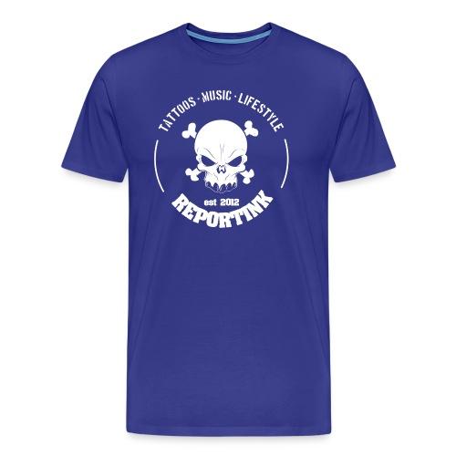 REPORTINK Tattoos - Music - Lifestyle Skull, weiß  - Männer Premium T-Shirt