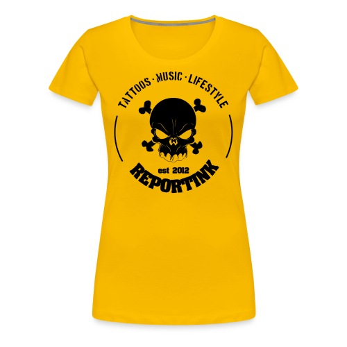 REPORTINK Tattoos - Music - Lifestyle Skull, schwarz - Ladies - Frauen Premium T-Shirt