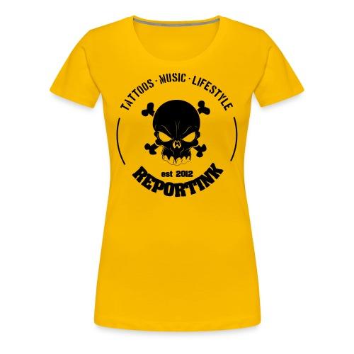 REPORTINK Tattoos - Music - Lifestyle Skull, schwarz - Ladies - Frauen Premium T-Shirt