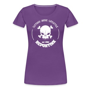 REPORTINK Tattoos - Music - Lifestyle Skull, weiß - Ladies - Frauen Premium T-Shirt