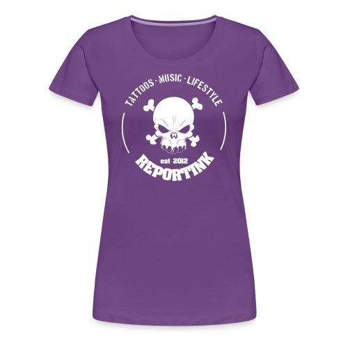 REPORTINK Tattoos - Music - Lifestyle Skull, weiß - Ladies - Frauen Premium T-Shirt
