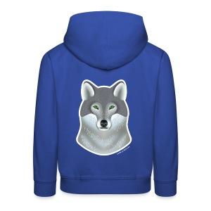 """Wild Wolf"" Kinder Kapuzenjacke - Kinder Premium Hoodie"