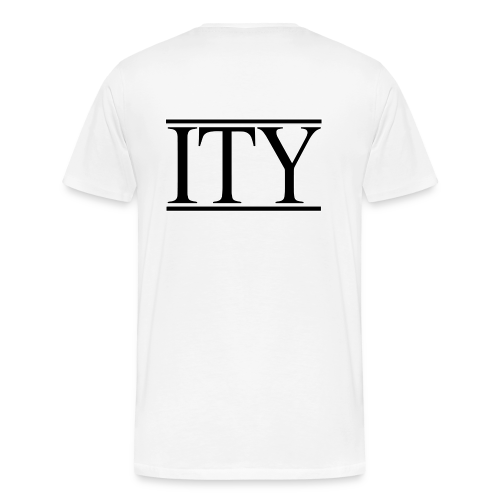 =ITY with Large Back Logo T-shirt - Men's Premium T-Shirt