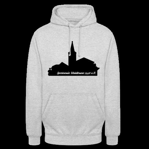 Kapuzenpullover mit Waldbrunner Skyline schwarz - Unisex Hoodie