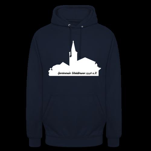Kapuzenpullover mit Waldbrunner Skyline weiß - Unisex Hoodie