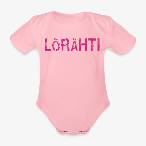 Vauvabody lörähti (magenta) - Organic Short-sleeved Baby Bodysuit