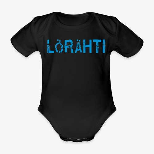 Vauvabody lörähti (lightblue) - Organic Short-sleeved Baby Bodysuit