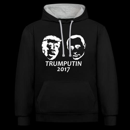 Trump & Putin 2017 Pullover & Hoodies - Kontrast-Hoodie