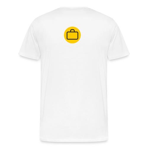 myplaces Männer T-Shirt mit 2 Logos - Männer Premium T-Shirt