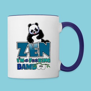 Mug Bad panda, be zen or not - Contrasting Mug