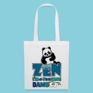 Tote bag Bad panda, be zen or not - Tote Bag