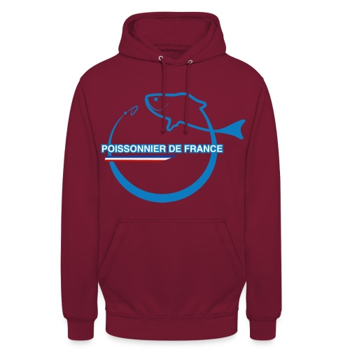 hoodie homme bordeaux simple logo - Sweat-shirt à capuche unisexe