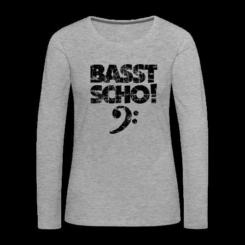 BASST SCHO! Vintage Schwarz (Notenschlüssel)