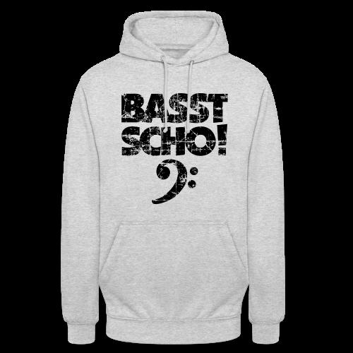 Basst Scho Vintage (Schwarz) Bass Hoodie - Unisex Hoodie
