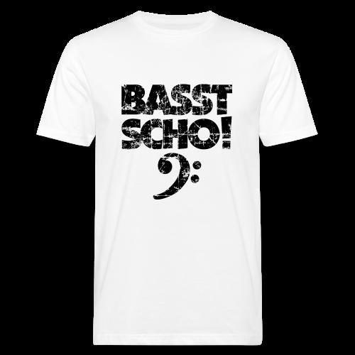 Basst Scho Vintage (Schwarz) Bass Bio T-Shirt - Männer Bio-T-Shirt