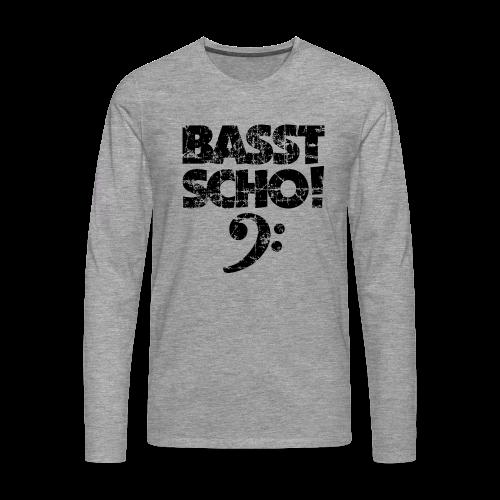 Basst Scho Vintage (Schwarz) Bass Langarmshirt - Männer Premium Langarmshirt