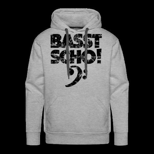 Basst Scho Vintage (Schwarz) Bass Hoodie - Männer Premium Hoodie